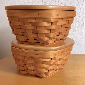 Longaberger 🌸Stackable 6 Sided Generation Baskets